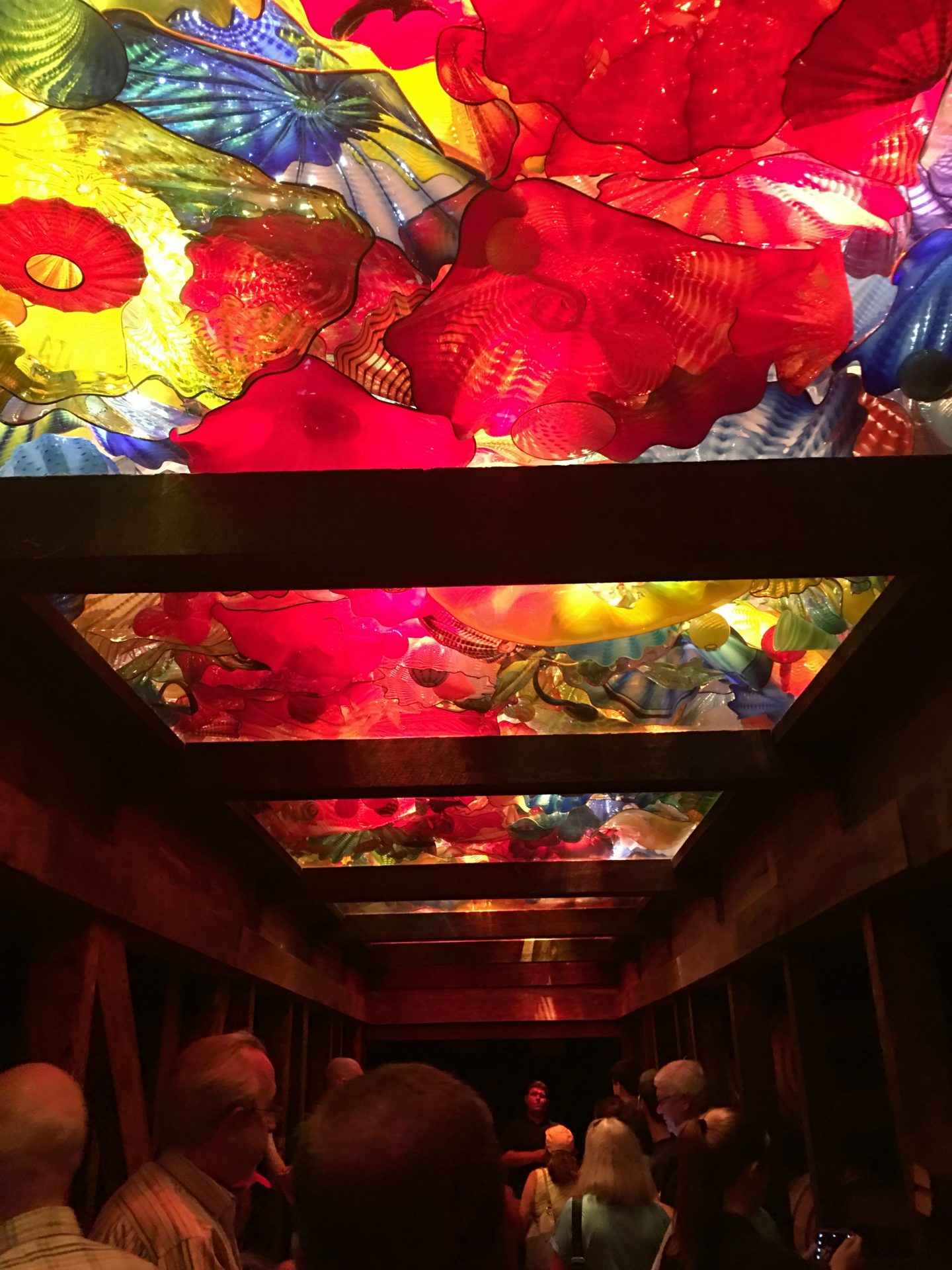 maker's mark glass Chihuly ceiling