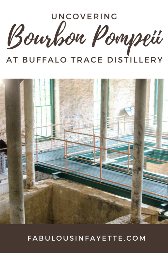 Buffalo Trace is the oldest continuously-operating distillery in the United States. Buffalo Trace had plans to renovate the O.F.C. building that was used for storage and turn it into an event and meeting space. Before the work began on the space, Buffalo Trace had to reinforce the structure, because the river facing side of the building was beginning to separate from the foundation. This meant that they had to dig up the floor. However, those plans were altered when they unearthed the foundations from one of the oldest buildings at Buffalo Trace (it was from 1873 to be exact!)