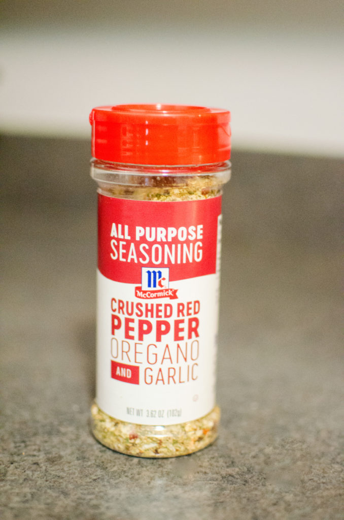 #ad Disclosure: This shop has been compensated by Collective Bias, Inc. and its advertiser. All opinions are mine alone. #LeaveBlandBehind #CollectiveBias. I do the majority of the cooking in my house and I love trying out new seasonings to flavor my dishes with. One thing I can't stand is bland food. My pantry is full of dozens and dozens of different seasonings and spices. I have everything from sea salt to smoked paprika to cumin to nutmeg, so I was excited to try out the new McCormick Crushed Red Pepper, Oregano & Garlic All Purpose Seasoning. It's all the flavor that you could want in just one bottle!