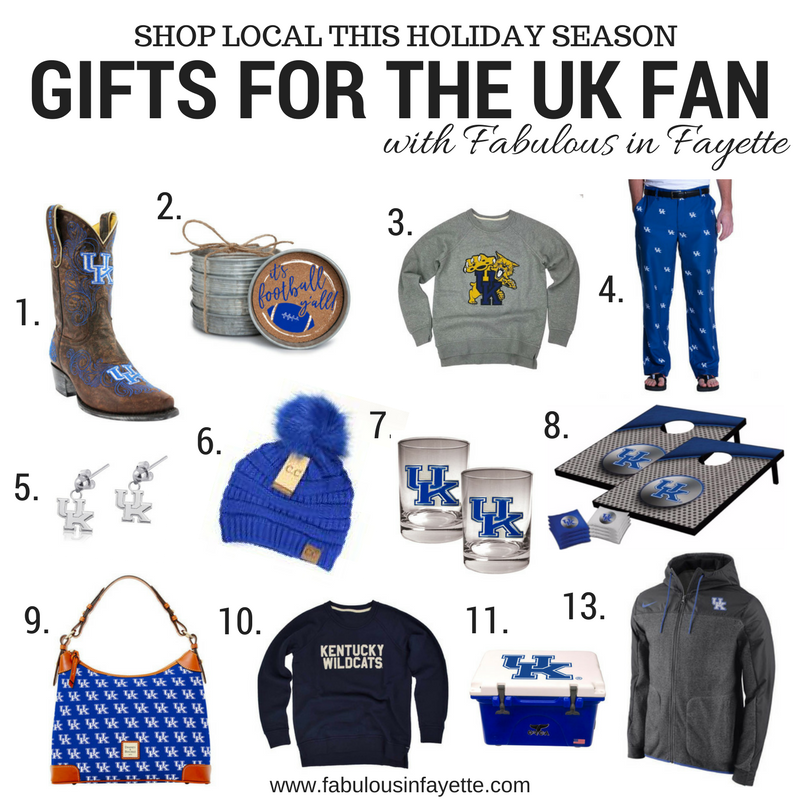 Can you believe we are almost halfway through November? I can't believe that Thanksgiving is in two week and Christmas is around the corner. With Christmas coming up, I figured I would put together several gift guides to help give you gift ideas for your loved ones.  Lexington is home to the BBN aka the Big Blue Nation. If you follow sports then I'm pretty sure you've heard of it. The Big Blue Nation is the fan base for the University of Kentucky's athletic programs, specifically the men's basketball program, the women's basketball program, and the football team.
