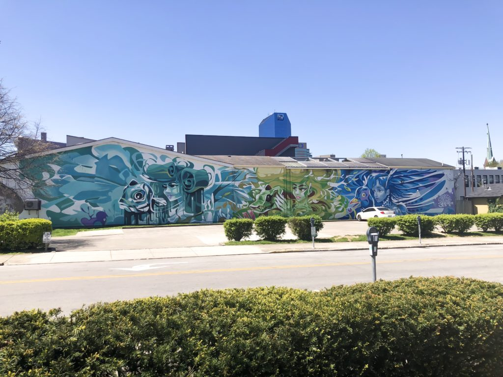 I've been having fun sharing all of the murals and street art that we have throughout Lexington. I think it's something that makes our city beautiful, interesting, and unique. If you look closely, you can find street art or murals just about everywhere you look! #sharethelex #lexingtonky #kentucky #visitlex #travelky #mural #art #streetart #graffiti #legalgraffiti