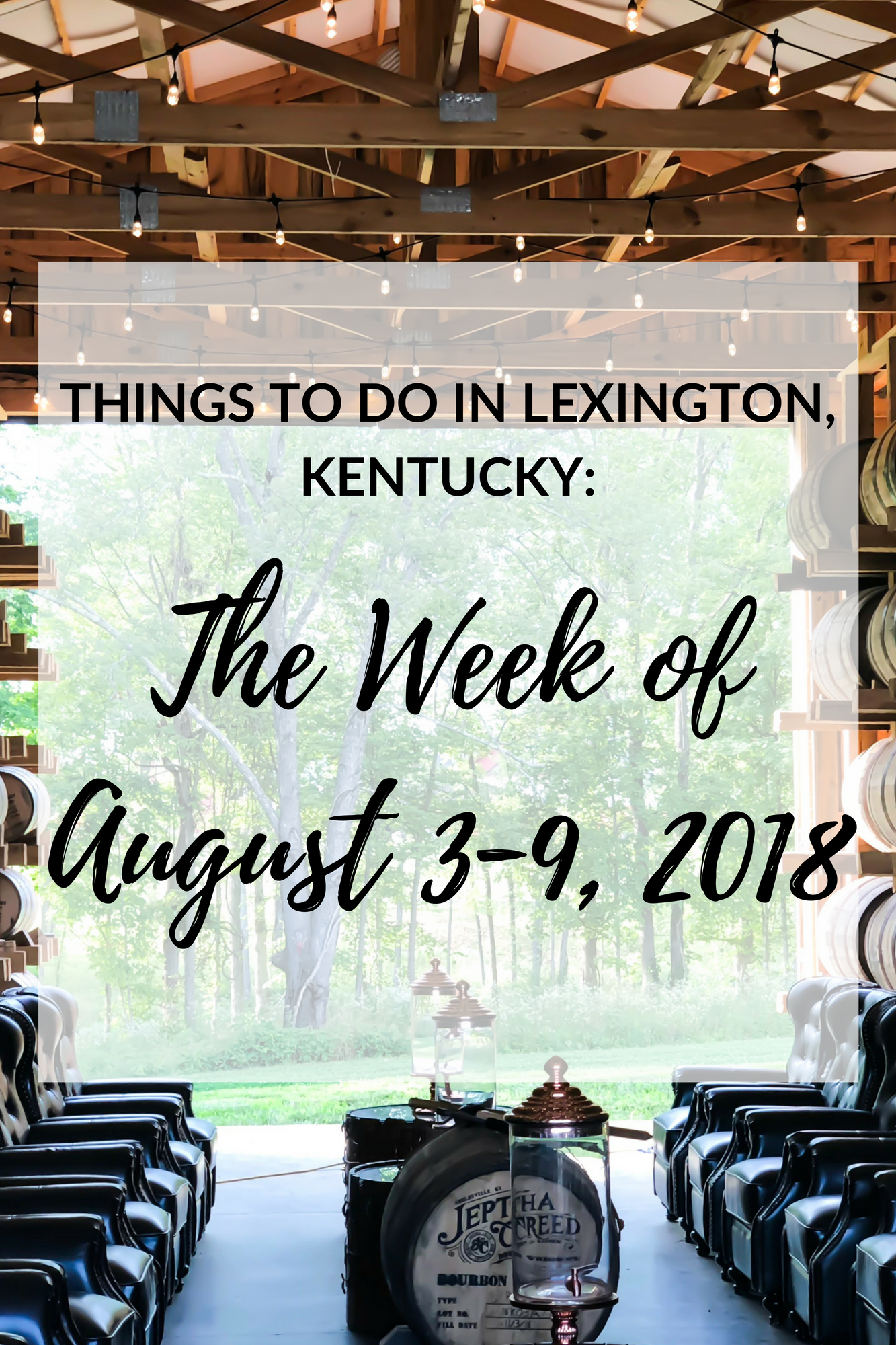 "After about taking a two month hiatus, I decided to bring the ""Things to Do in Lexington, Kentucky: The Week Of..."" posts back. There are so many events going on in Lexington in a given week that it would be impossible to include them all, so I've handpicked the events and included the ones that I think everyone would enjoy the most! #visitlex #sharethelex #events #kentucky #travel #lexington"