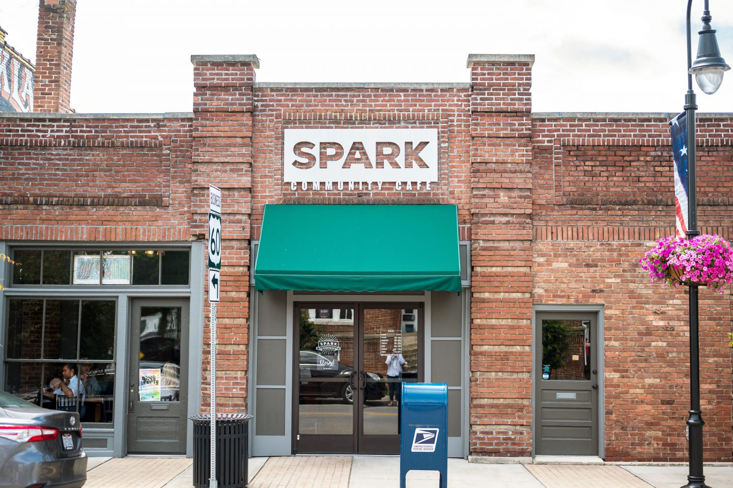 Outside of Spark Community Cafe