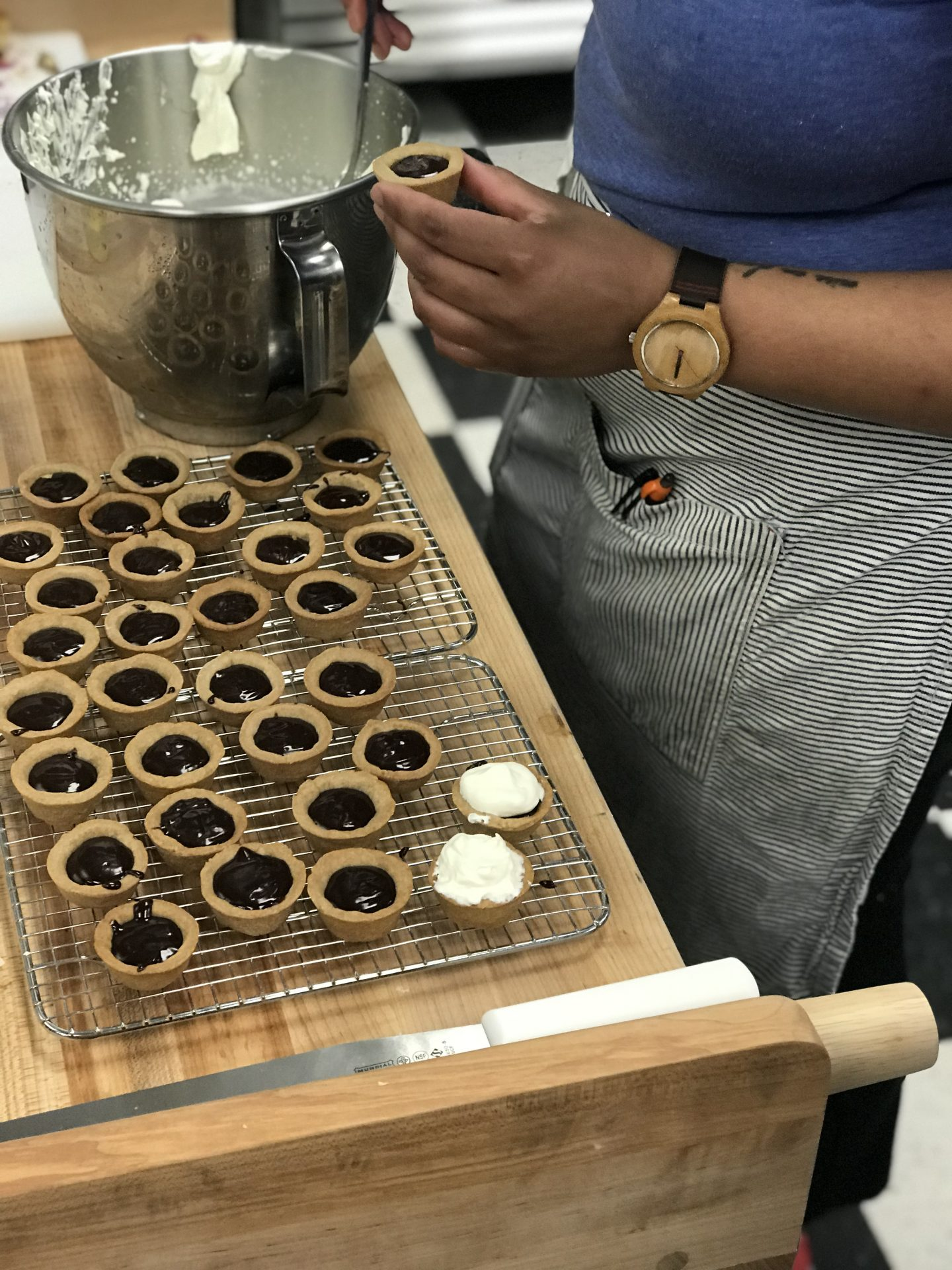 A person making pastries