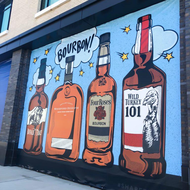 bourbon mural