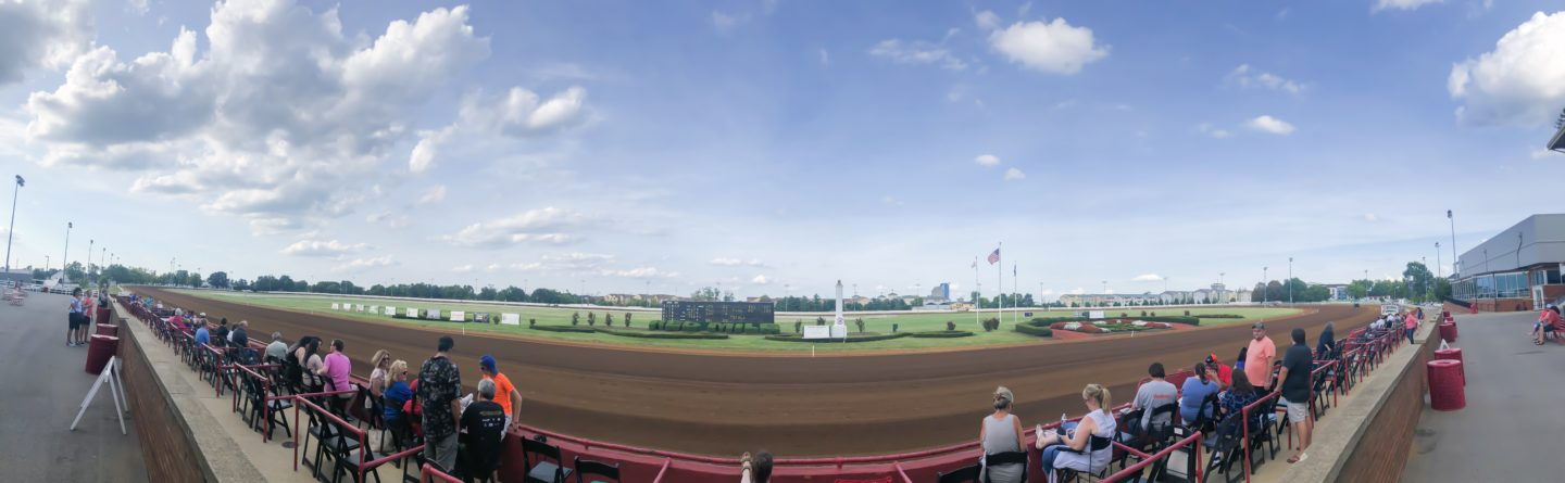 panoramic of red mile race track