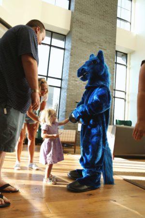 blue horse costume