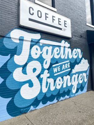 together we are stronger mural