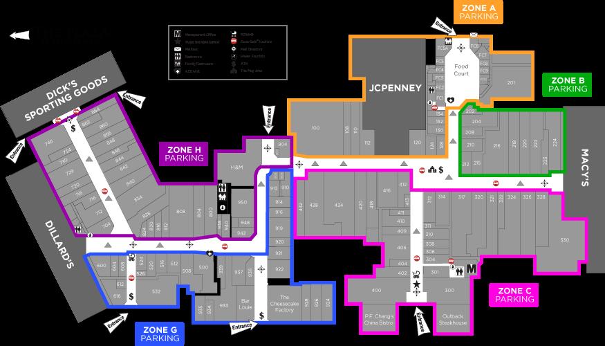 fayette mall map