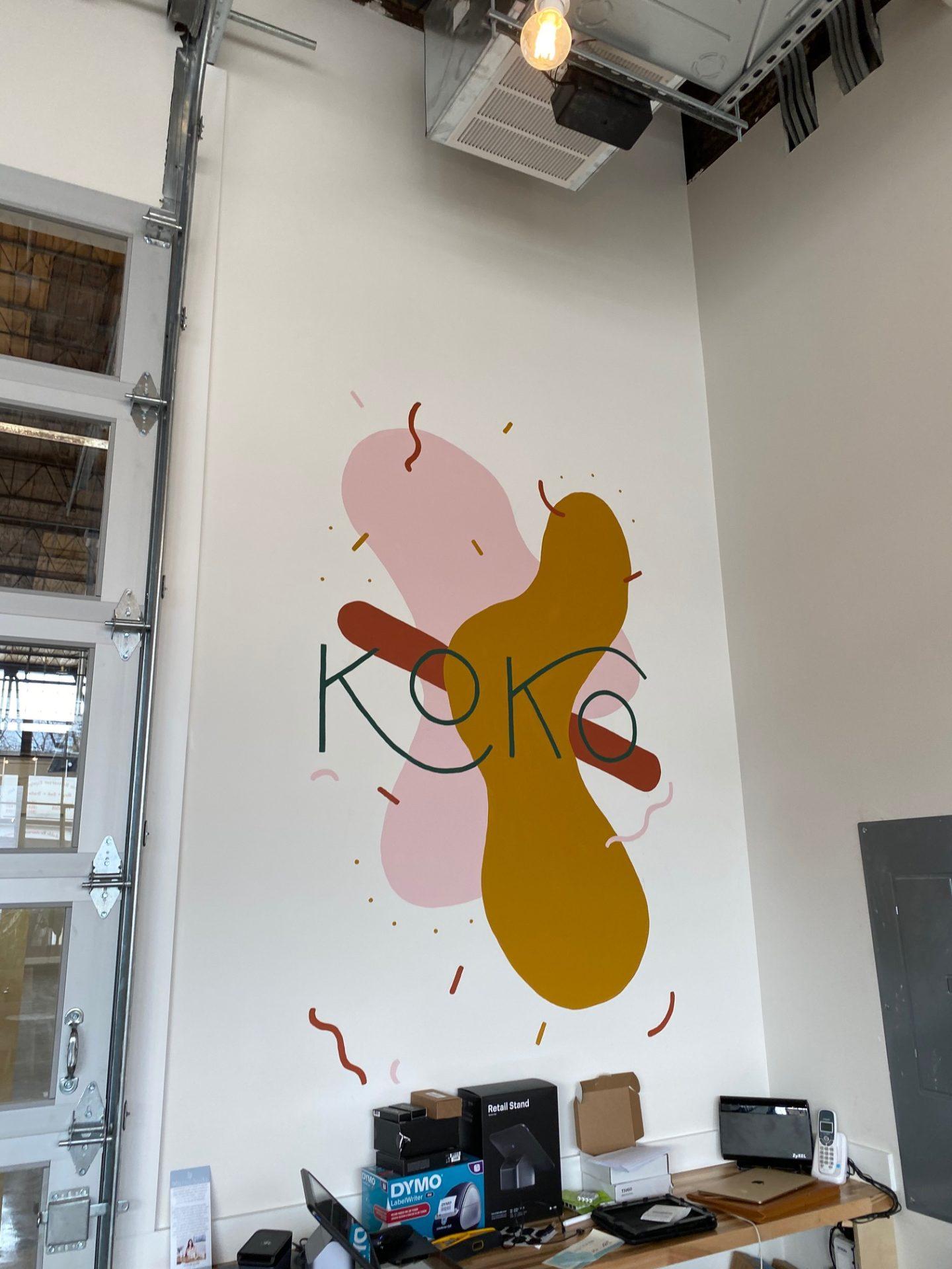 koko logo on the wall