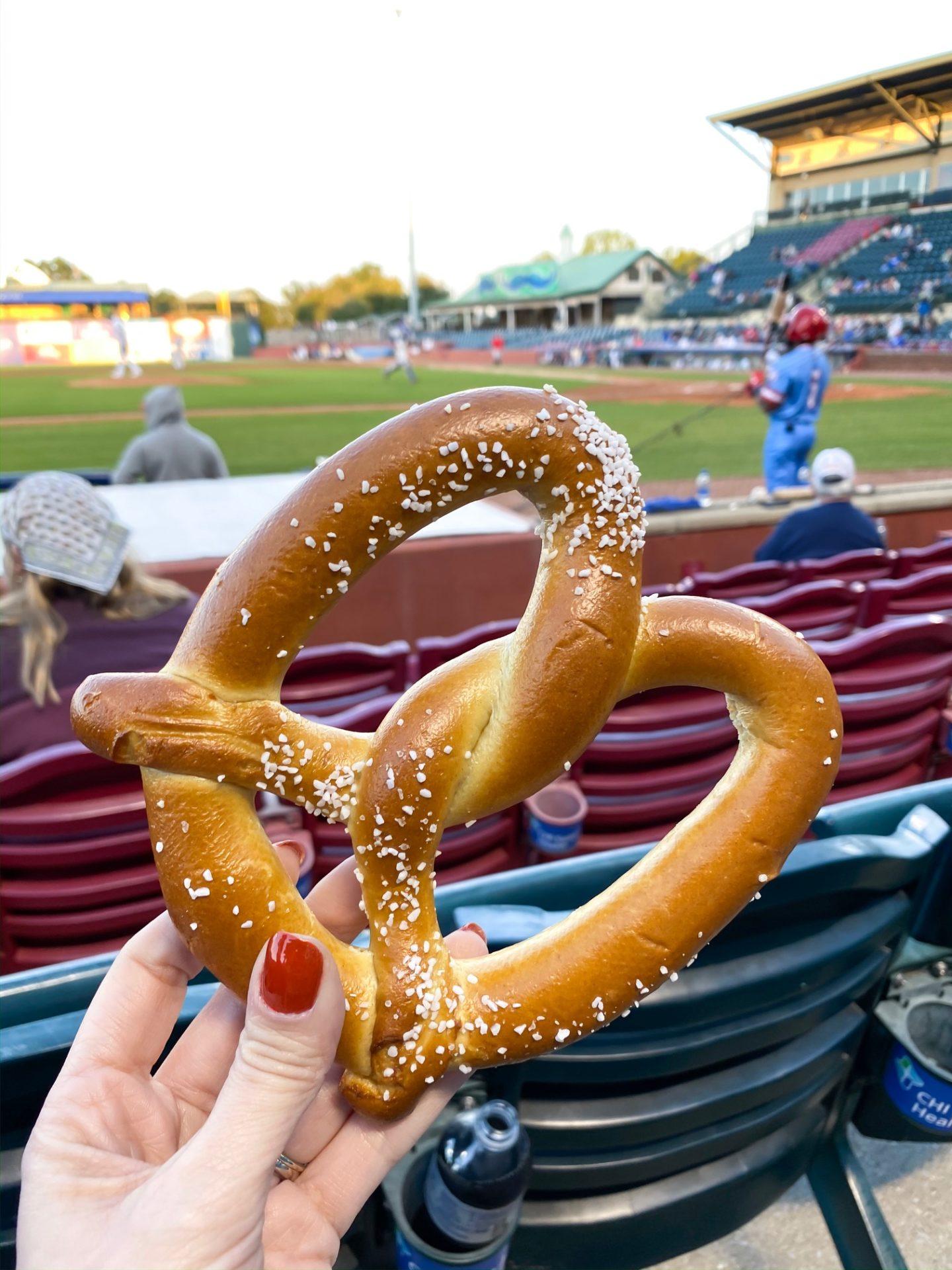 pretzel at the ballp